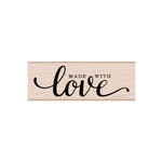 Hero Arts - Woodblock - Wood Mounted Stamps - Made with Love Message