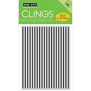 Hero Arts - Clings - Repositionable Rubber Stamps - Stripes Pattern