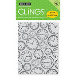 Hero Arts - Clings - Repositionable Rubber Stamps - Time to Stamp