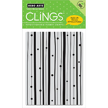 Hero Arts - Clings - Repositionable Rubber Stamps - Dots and Stripes