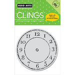 Hero Arts - Clings - Repositionable Rubber Stamps - Big Clock