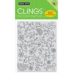 Hero Arts - Clings - Repositionable Rubber Stamps - Heart Flourishes