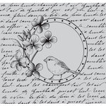 Hero Arts - Clings - Repositionable Rubber Stamps - Bird In a Circle