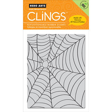 Hero Arts - Clings - Halloween - Repositionable Rubber Stamps - Large Web