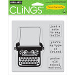 Hero Arts - Clings - Repositionable Rubber Stamps - My Type - Set of Four