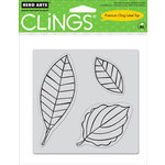 Hero Arts - Clings - Repositionable Rubber Stamps - Three Leaves - Set of Three