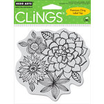 Hero Arts - Clings - Repositionable Rubber Stamps - Flower Corsage