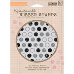 Hero Arts - BasicGrey - Life of the Party Collection - Clings - Repositionable Rubber Stamps - Dots
