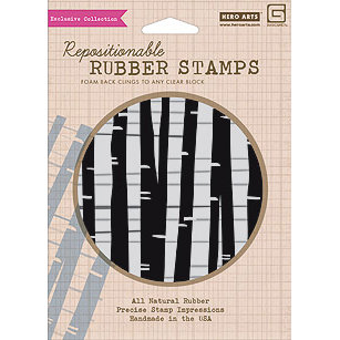 Hero Arts - BasicGrey - Lauderdale Collection - Clings - Repositionable Rubber Stamps - Trees