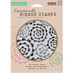 Hero Arts - BasicGrey - Sweet Threads Collection - Clings - Repositionable Rubber Stamps - Spirals