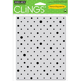 Hero Arts - Clings - Repositionable Rubber Stamps - Solid Dots Pattern