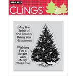 Hero Arts - Clings - Christmas - Repositionable Rubber Stamps - Spirit Of The Season - Set of Three