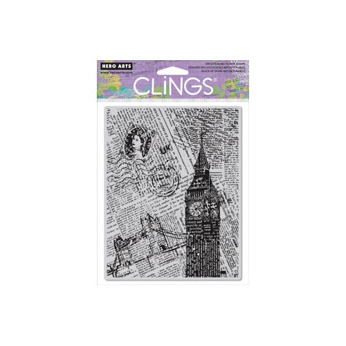 Hero Arts - Clings - Repositionable Rubber Stamps - London Background
