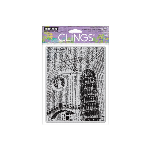 Hero Arts - Clings - Repositionable Rubber Stamps - Italy Background
