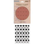 Hero Arts - BasicGrey - Soleil Collection - Repositionable Rubber Stamps - Heart Background