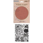 Hero Arts - BasicGrey - Soleil Collection - Repositionable Rubber Stamps - Flowers and Music