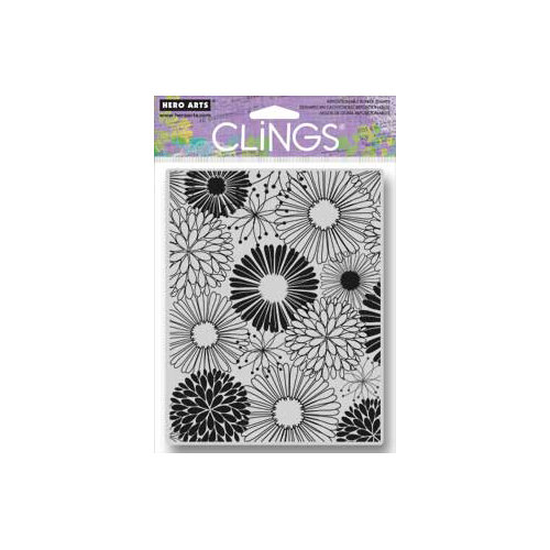 Hero Arts - Clings - Repositionable Rubber Stamps - Everything Flowers