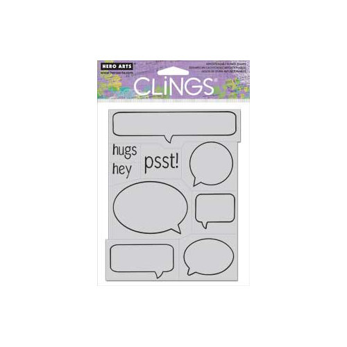 Hero Arts - Clings - Repositionable Rubber Stamps - Psst