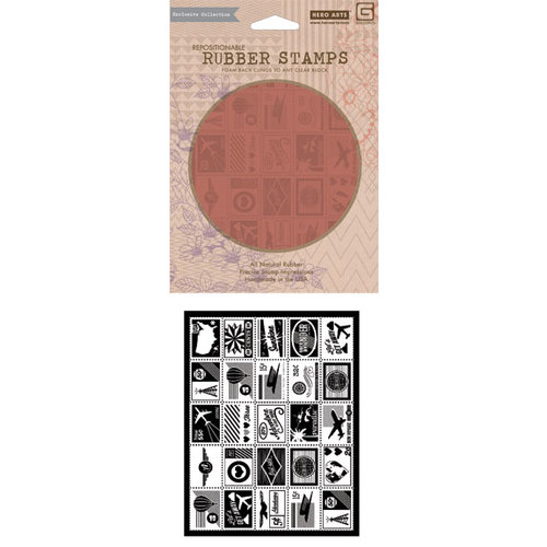 Hero Arts - BasicGrey - Carte Postale Collection - Repositionable Rubber Stamps - Let's Get Away
