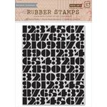 Hero Arts - Basic Grey - Capture Collection - Repositionable Rubber Stamps - Number Background