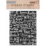 Hero Arts - BasicGrey - Highline Collection - Repositionable Rubber Stamps - Chalkboard Background