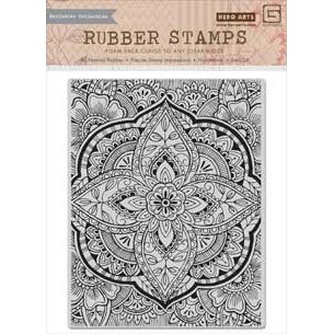 Hero Arts - Basic Grey - Spice Market Collection - Repositionable Rubber Stamps - Large Petal Background