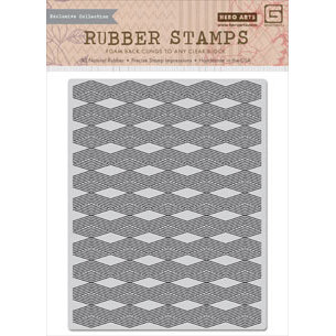 Hero Arts - Basic Grey - Grand Bazaar Collection - Repositionable Rubber Stamps - Diamond Background