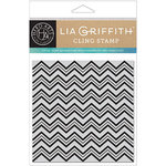 Hero Arts - Lia Griffith Collection - Clings - Repositionable Rubber Stamps - Zig Zag Bold Prints