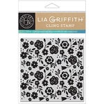 Hero Arts - Lia Griffith Collection - Clings - Repositionable Rubber Stamps - Floral Bold Prints