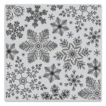 Hero Arts - Clings - Repositionable Rubber Stamps - Hand Drawn Snowflakes Bold Prints
