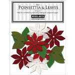Hero Arts - Felt Shapes - Christmas - Poinsettia and Leaves