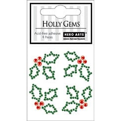 Hero Arts - Hero Hues - Christmas - Bling - Gem Shapes - Holly, CLEARANCE
