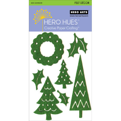 Hero Arts - Hero Hues - Self Adhesive Felt Decor - Green Christmas