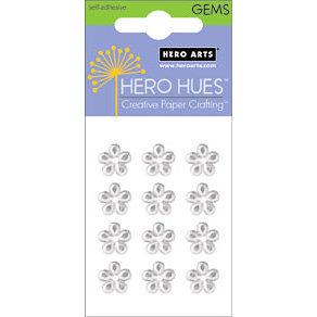 Hero Arts - Hero Hues - Bling - Blossom Gems - 10 mm - Clear, CLEARANCE