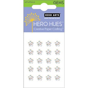 Hero Arts - Hero Hues - Bling - Blossom Gems - 5 mm - Clear, CLEARANCE