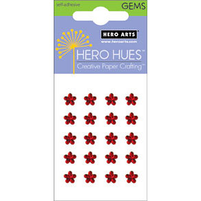 Hero Arts - Hero Hues - Bling - Blossom Gems - 5 mm - Red, CLEARANCE