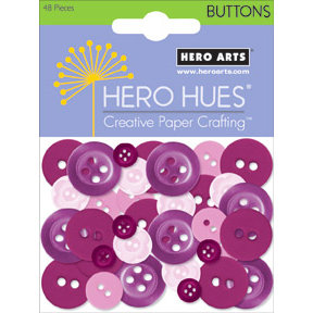Hero Arts - Hero Hues - Mixed Buttons - Floral