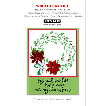 Hero Arts - Christmas - Card Kit - Wreath