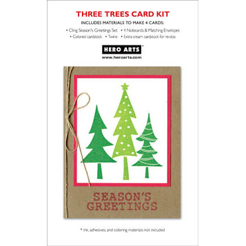 Hero Arts - Christmas - Card Kit - Three Trees