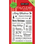 Hero Arts - Poly Clear - Christmas - Clear Acrylic Stamps - Holiday Sayings