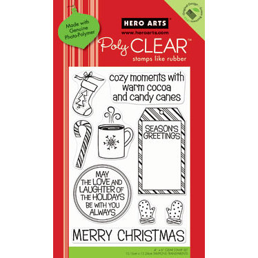 Hero Arts - Poly Clear - Christmas - Clear Acrylic Stamps - Cozy Moments