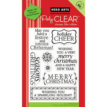 Hero Arts - Poly Clear - Christmas - Clear Acrylic Stamps - Holiday Cheer