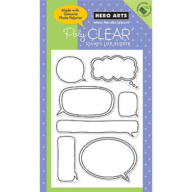 Hero Arts - Poly Clear - Clear Acrylic Stamps - Write your Message