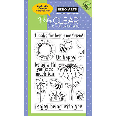 Hero Arts - Poly Clear - Clear Acrylic Stamps - Be Happy