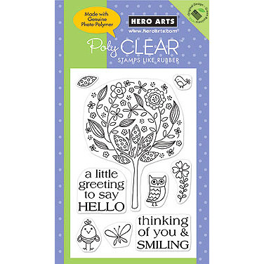 Hero Arts - Poly Clear - Clear Acrylic Stamps - Say Hello, CLEARANCE