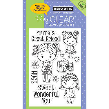 Hero Arts - Poly Clear - Clear Acrylic Stamps - Sweet Wonderful You