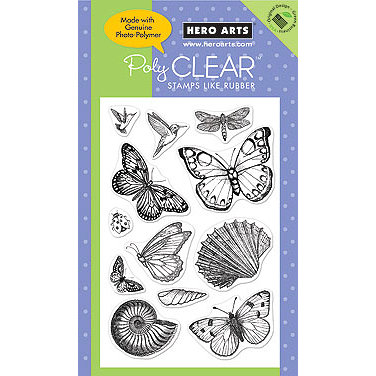 Hero Arts - Poly Clear - Clear Acrylic Stamps - Antique Engravings