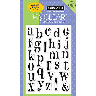 Hero Arts - Poly Clear - Clear Acrylic Stamps - Happy Letters