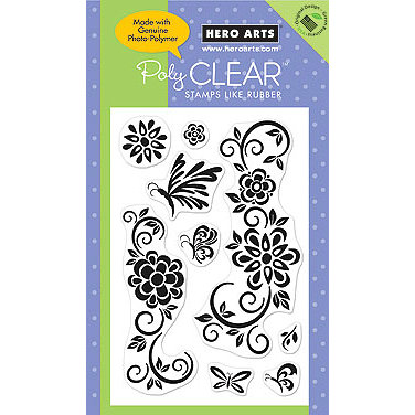 Hero Arts - Poly Clear - Clear Acrylic Stamps - Stencil Art