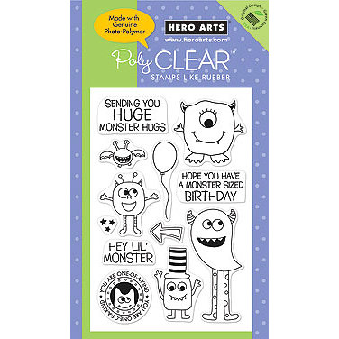 Hero Arts - Poly Clear - Clear Acrylic Stamps - Monster Fun